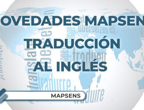 Novedades Mapsens®   Do you speak English? Because Mapsens® does.